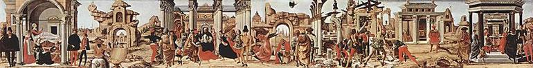 Miracoli di San Vincenzo Ferrer, cm. 27,5 x 214, Musei Vaticani, Roma (foto da Wikimedia Commons)