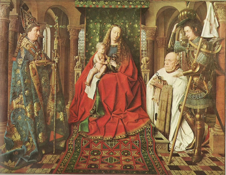 Jan van Eyck:Madonna del canonico Van der Paele