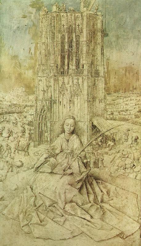 Jan van Eyck:Santa Barbara