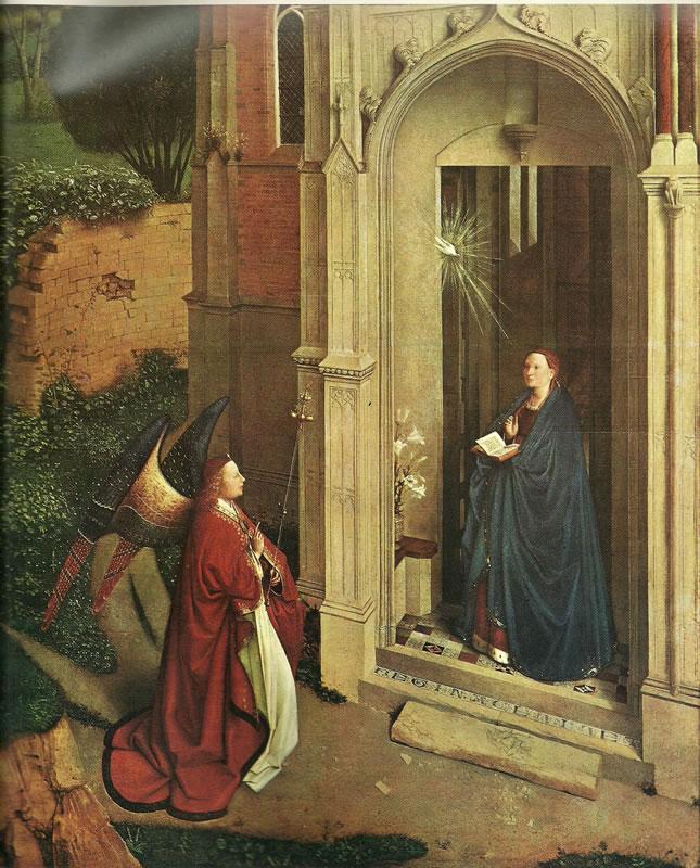 Jan van Eyck:L'Annunciazione