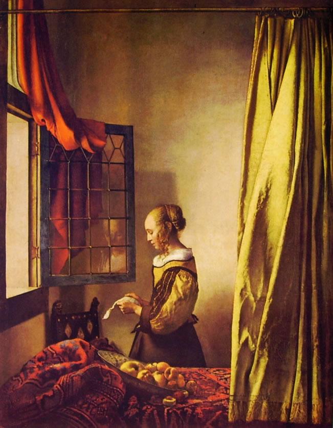 Jan Vermeer: Ragazza che legge una lettera presso una finestra