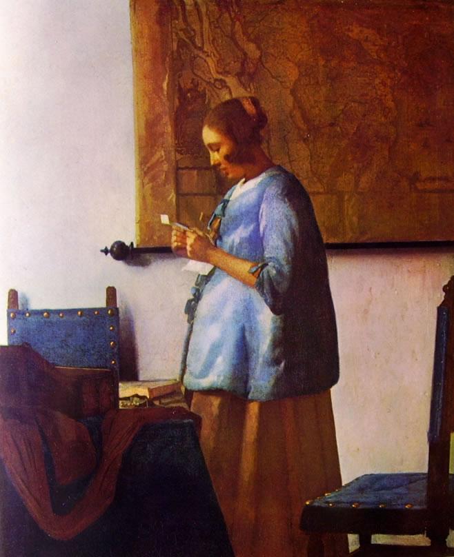 Jan Vermeer: Donna in blu
