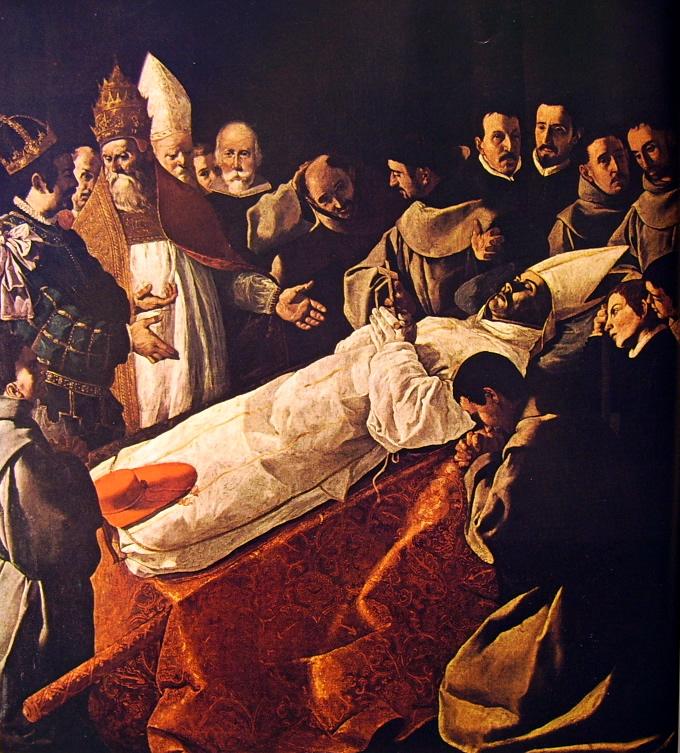 Francisco Zurbarán: Storie di San Bonaventura per un collegio francescano a Siviglia - Funerali di San Bonaventura