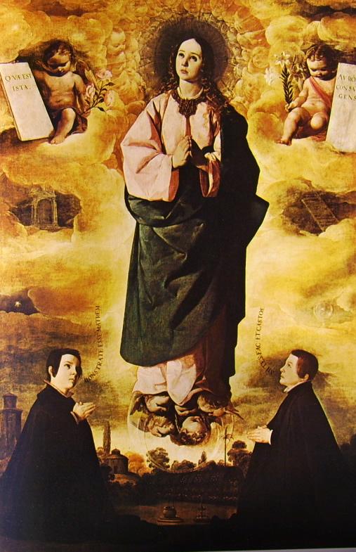 Francisco Zurbarán:L'immacolata Concezione con due giovani chierici