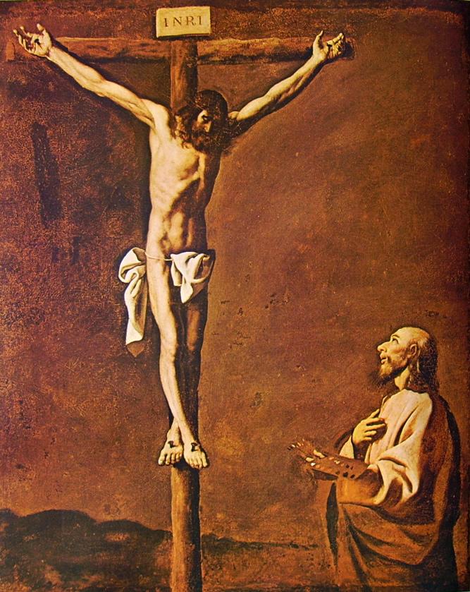 Francisco Zurbarán:Cristo Crocifisso con un pittore