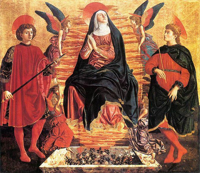 Andrea del Castagno: Assunzione della Vergine tra i santi Miniato e Giuliano