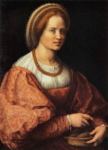 Andrea del Sarto: Dama col cestello di fusi