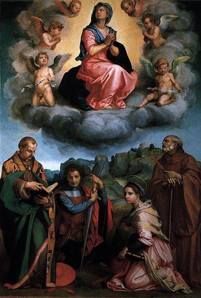 Andrea del Sarto: Madonna in gloria con quattro santi