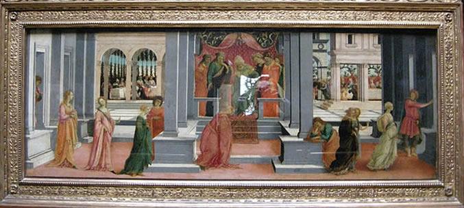 Filippino Lippi: Ester scelta da Assuero