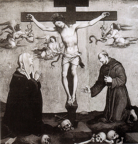 Filippino Lippi: Crocifissione tra Maria e san Francesco
