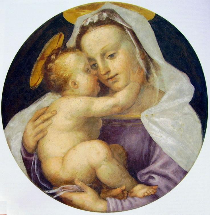 Fra' Bartolomeo: Madonna col Bambino (diam. 66 x 7)