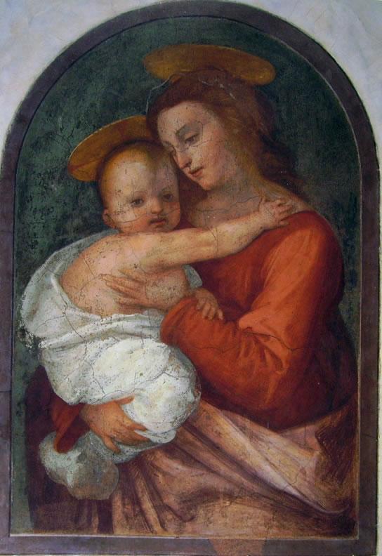 Fra' Bartolomeo: Madonna col Bambino (affresco)