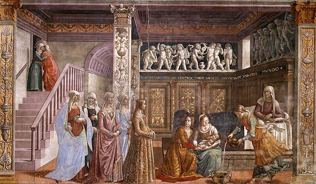 Domenico Ghirlandaio: Natività di Maria (Natività della Vergine)