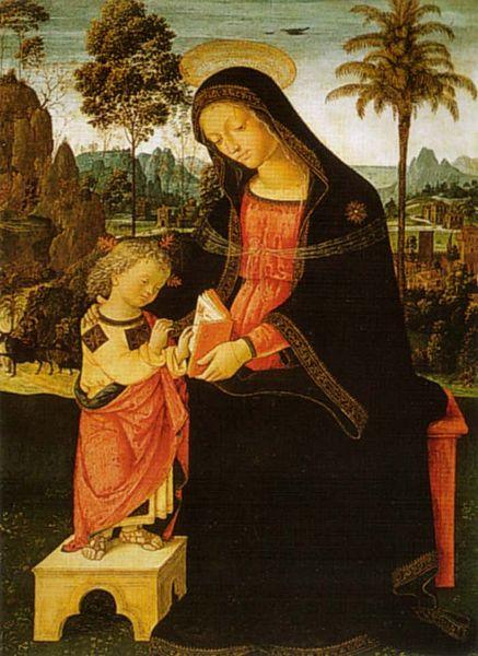Pinturicchio: Madonna col Bambino scrivente