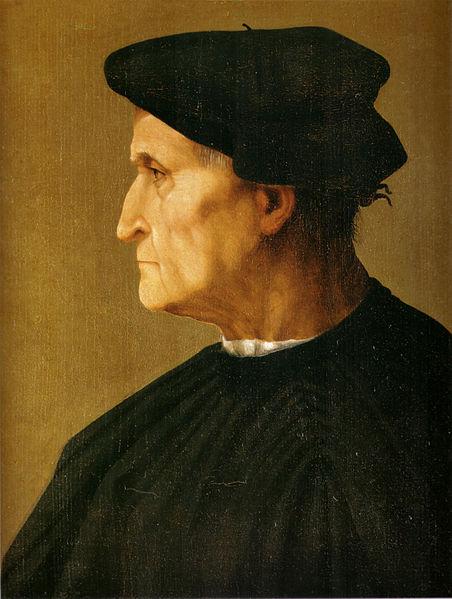 Rosso Fiorentino: Uomo in nero di profilo