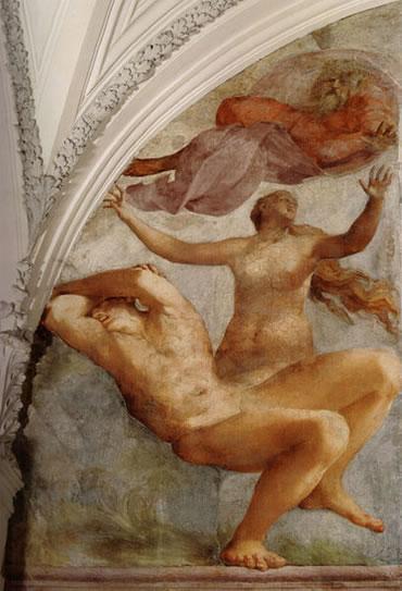 Rosso Fiorentino: Affreschi nella Cappella Cesi - Creazione di Eva