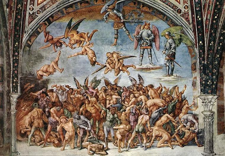 """Luca Signorelli: """"Storie degli ultimi giorni"""" - Dannati all'Inferno"""