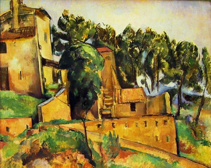 Paul Cezanne: Case a Bellevue