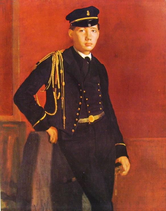 Edgar Degas: Achille De Gas Cadetto di Marina