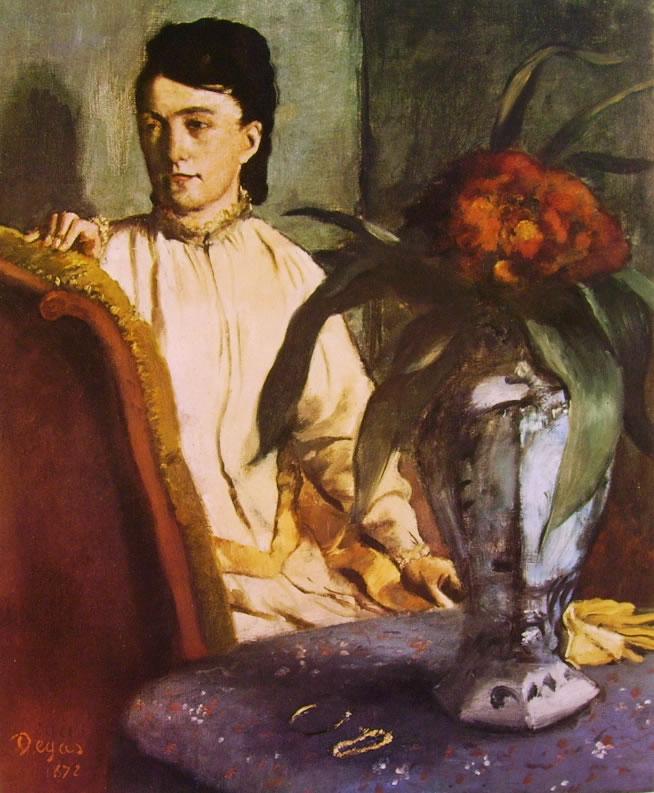 Edgar Degas: Signora seduta