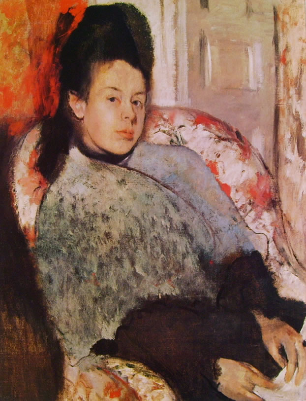 Edgar Degas: Giovane donna in poltrona