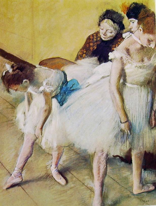 Edgar Degas: Pausa durante una lezione di danza