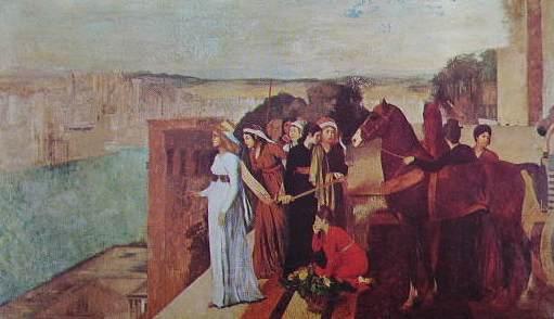 Degas - Semiramide che costruisce Babilonia