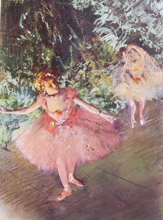 Ballerine sulla scena, 1880, pastello a tempera