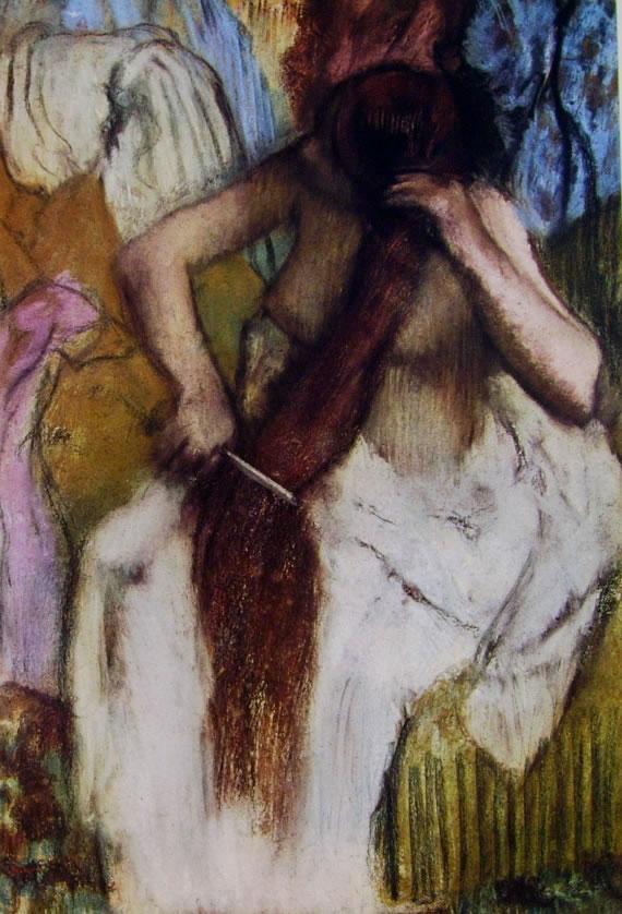 Donna che si pettina, 1877-1890 pastello cm. 82 x 57