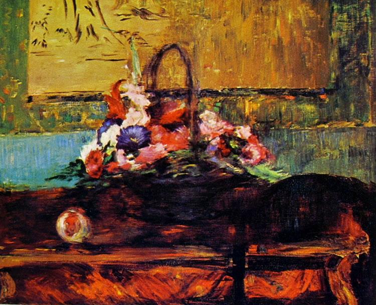 Edouard Manet: Cestino di fiori,