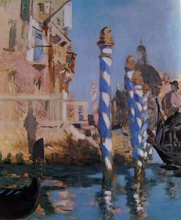 Edouard Manet: Gondole e bricole sul Canal Grande