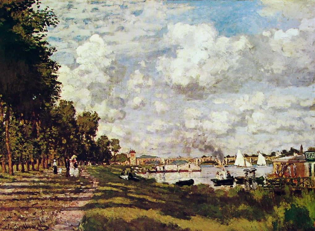 Il bacino ad Argenteuil, Museo d'Orsay Parigi