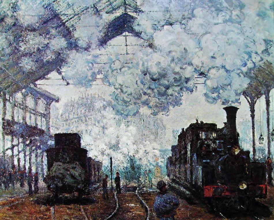 Claude Monet: La stazione di Saint Lazare