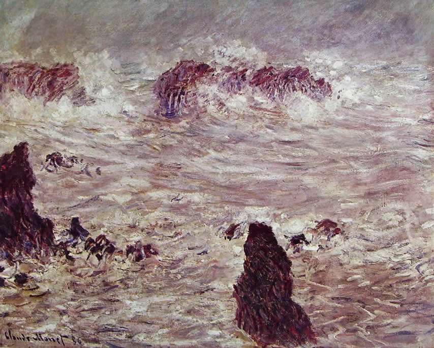 Tempesta a Belle-Ile, Museo d'Orsay, Parigi
