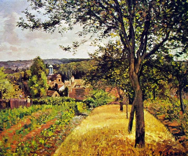 Camille Pissarro: Frutteto a Louveciennes