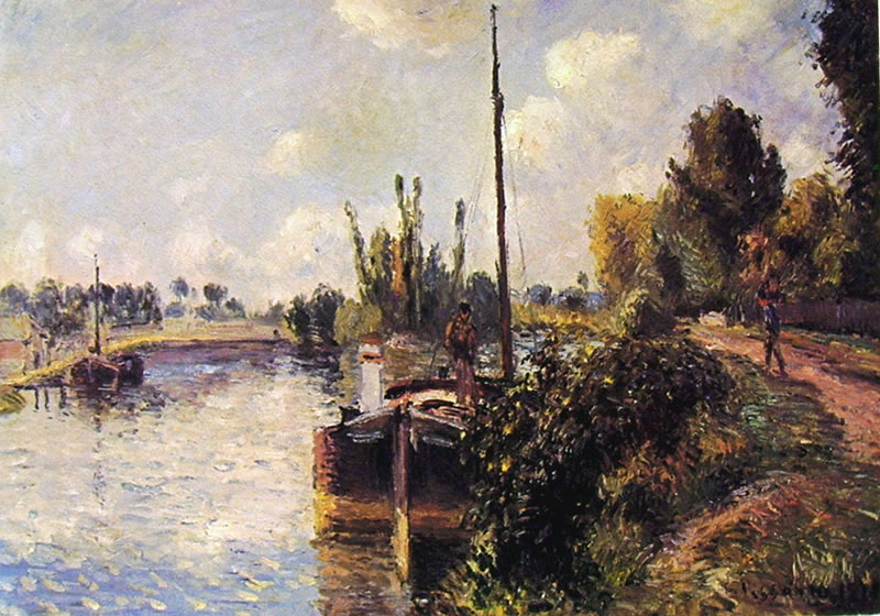 Camille Pissarro: Rive dell'Oise Pontoise