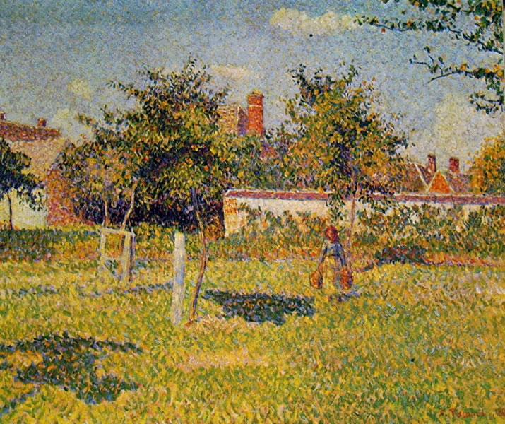 Camille Pissarro: Sole di primavera nel prato a Eragny