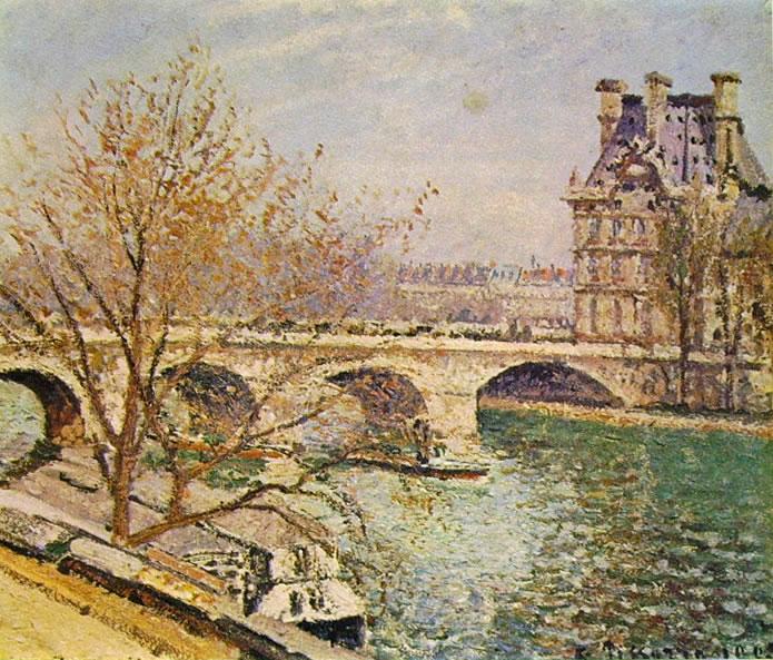 Camille Pissarro: Pont Royal e il Pavillon de Flore