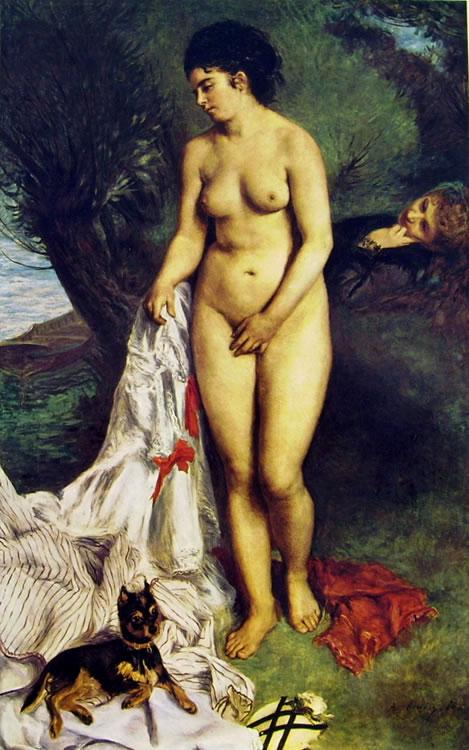 Bagnante con grifoncino, 184 x 115 Museu de Arte, San Paulo