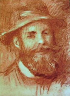 Renoir - Ritratto d'uomo, sanguigna