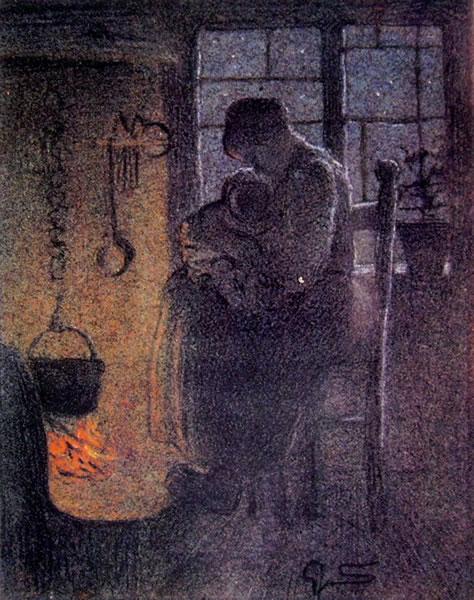 Giovanni Segantini: Gli orfani