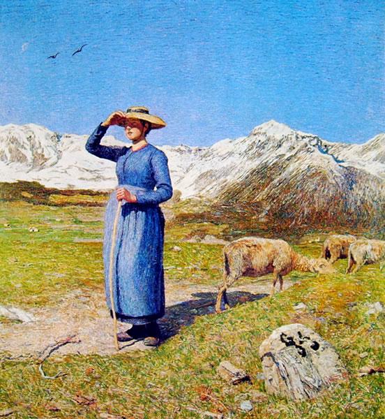 Giovanni Segantini: Mezzogiorno sulle alpi