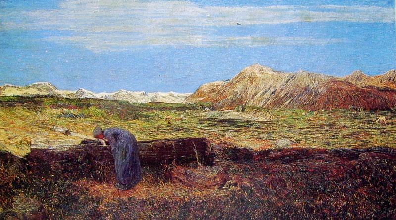 Giovanni Segantini: Donna alla fonte