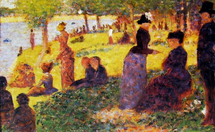 Georges-Pierre Seurat: Gruppi di figure alla grande Jatte