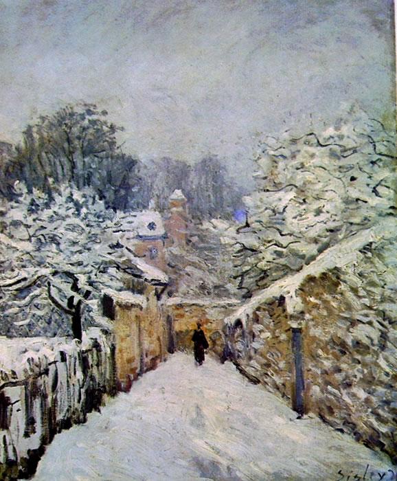 Alfred Sisley: La neve a Louveciennes