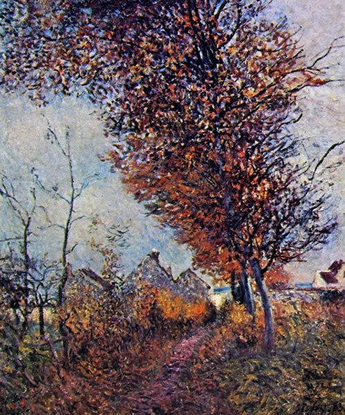 Alfred Sisley: Le ultime foglie d'autunno