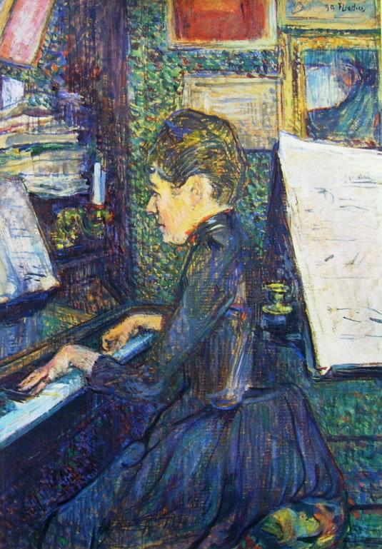Toulouse-Lautrec: La signorina Dihau al pianoforte