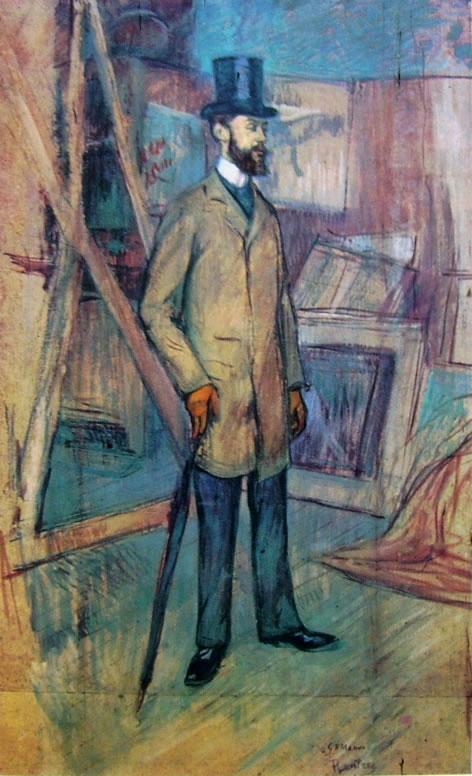 Toulouse-Lautrec: Ritratto di Georges-Henri Manuel in piedi
