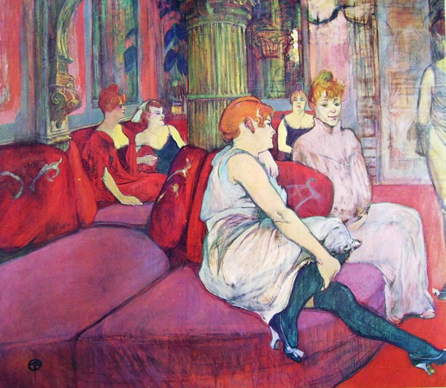 Toulouse-Lautrec: Nella sala di rue des Moulins
