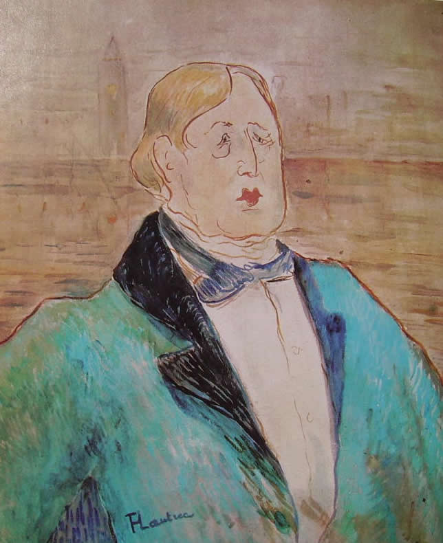 Toulouse-Lautrec: Ritratto di Oscar Wilde